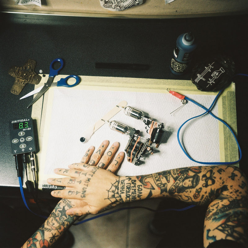 tattooer, hands, tattooed